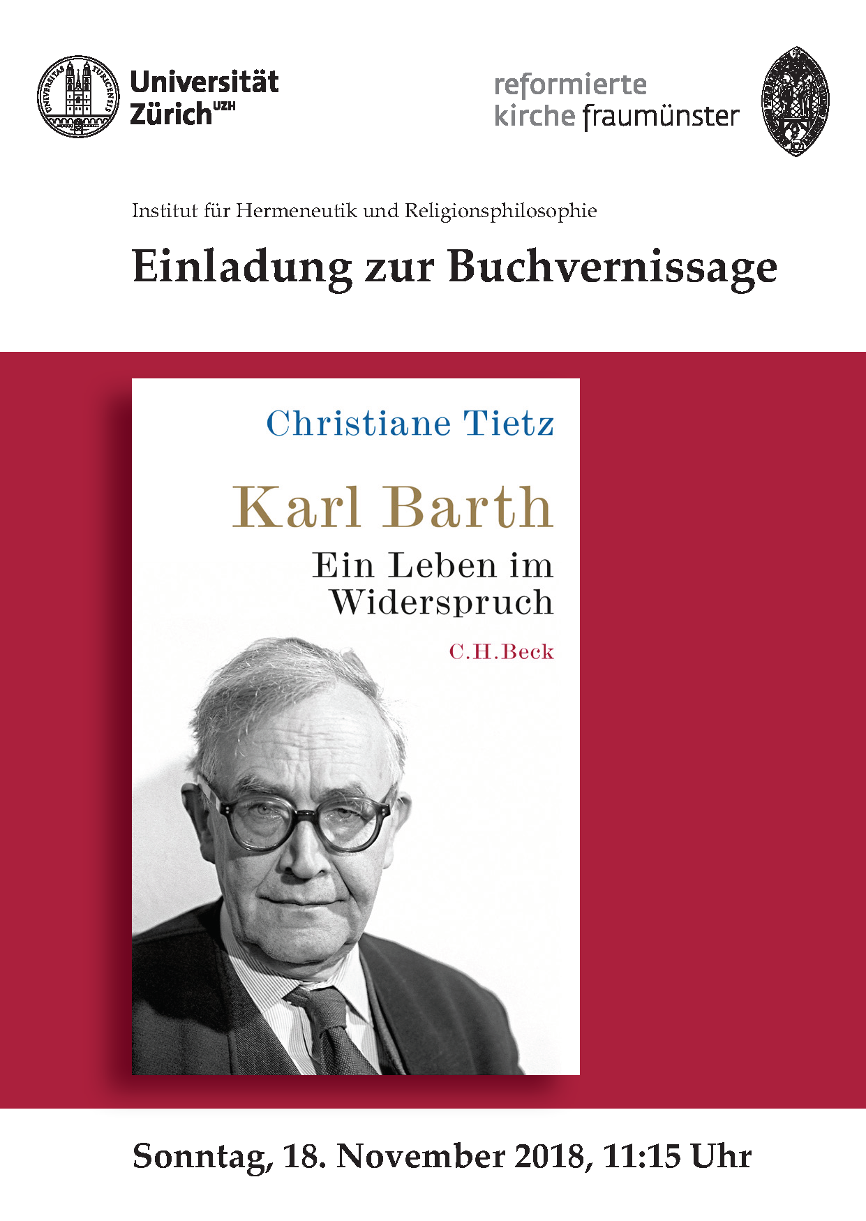 Buchvernissage Karl Barth